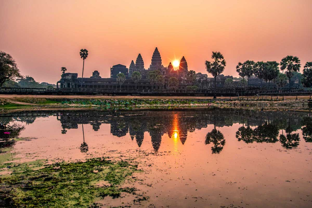 ankorwat welcoming spring with sunrise landscape photo