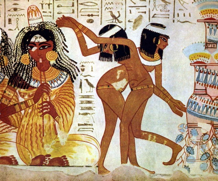 egypt ancient paintings woman dancers performin a dance