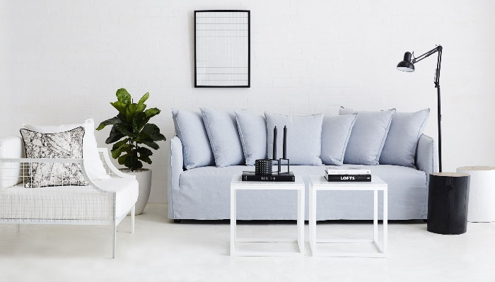 urban couture light blue sofa modern urban living room