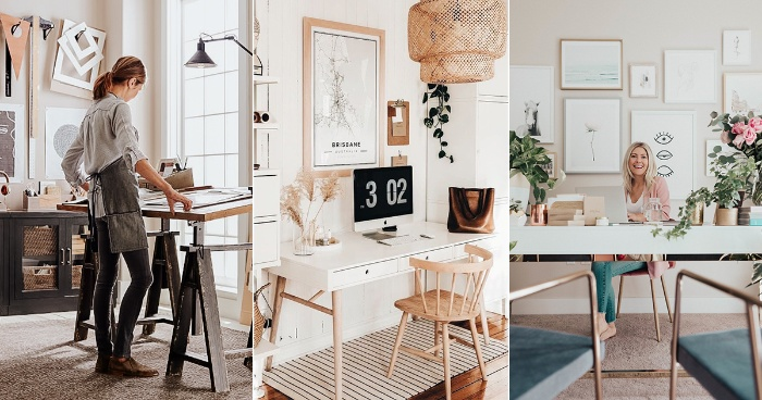 work from home home office set up interior design ideas
