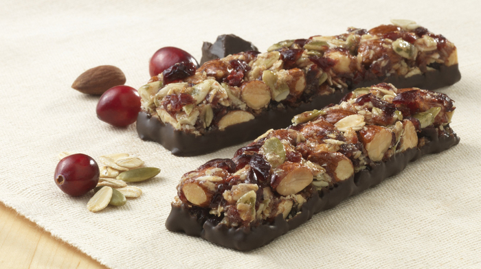 nut and dried fruit bars with dark chocolate ideal summer picnic snacks