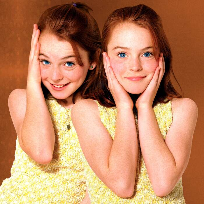 summer movies the parent trap two girl twins with blue eyes and yellow dresses