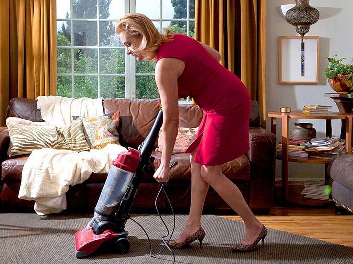 Woman-vacuuming