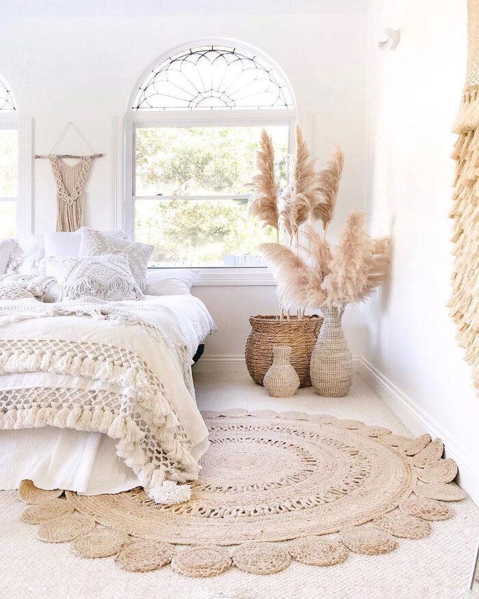 bedroom trends white bedroom with natural materials on the floor